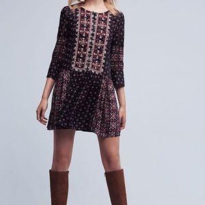Anthropologie Brand Kaleidoscope Embroidered Dress